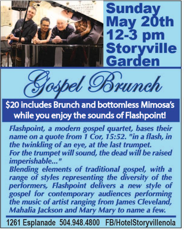 Gospel Brunch at Hotel Storyville