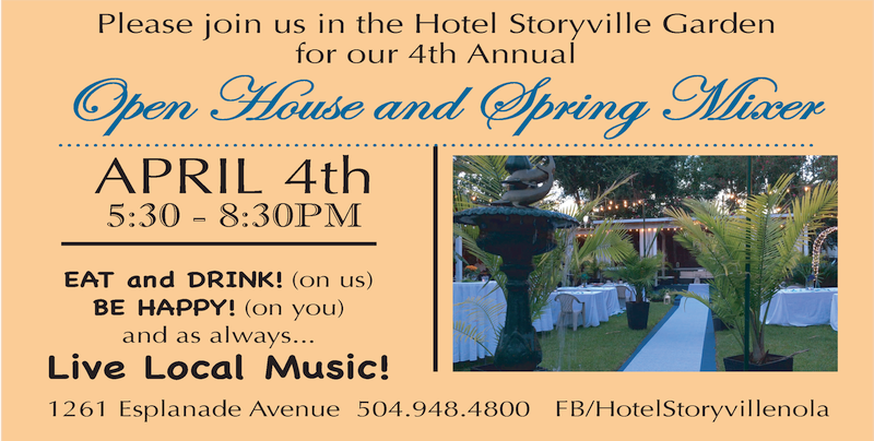 hotel storyville open house and spring mixer